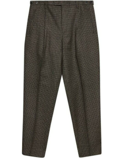 Barena Masco Tapered Houndstooth Trouser - Brown