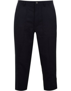 Comme Des Garcons Shirt Wool Crop Trousers - Navy