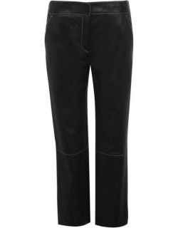 Stand Stand Zoe Leather Cropped Trousers - BLACK