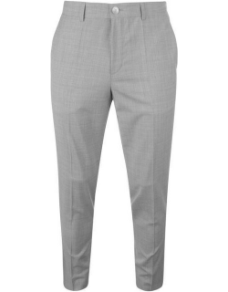 Hugo Hugo Mens Slim Fit Textured Chino Suit Trousers - Mid Grey 037