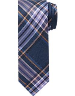 1905 Collection Wool & Silk Plaid Tie - Long