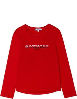 Givenchy Giv Logo Swt Jn14 - Bright Red 991