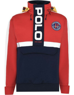 Polo Ralph Lauren Sport Concealed Hood Pullover - RED