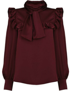 See By Chloe See By Chloe Bow Satin Top - Obscure Purple