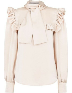 See By Chloe See By Chloe Bow Satin Top - Milk
