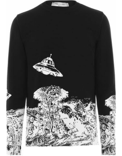 VALENTINO Time Traveller Knit Sweater - Blk/Wht FC7