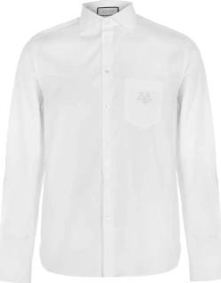 GUCCI Gg Embroidered Shirt - White 9692