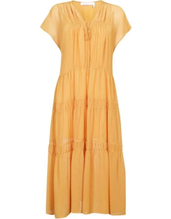 See By Chloe Flounced Dress - 745 Bright Gold