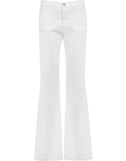 REDEMPTION Redemption Flare Wide Leg Trousers - White 100