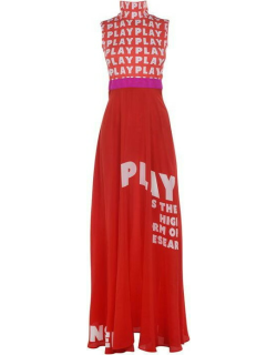Play Date Studios Pl H Neck Maxi Drs Ld02 - Red Quote