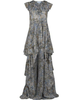 REDEMPTION Frill Maxi Dress - Paisley 1115