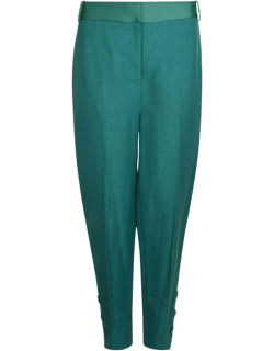 Victoria by Victoria Beckham Cropped Slim Trousers - Kelly Green