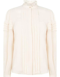 See By Chloe High Neck Blouse - Beige 27I