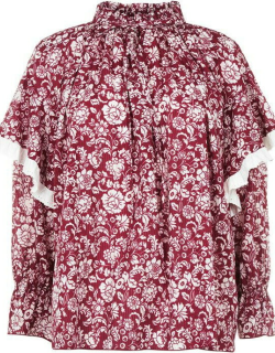 See By Chloe Printed Blouse - Red/White 9J0