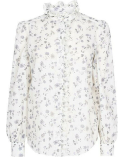 See By Chloe Floral Blouse - Wht/Grey 90P