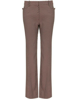 VICTORIA BECKHAM High Waisted Slim Flare Trousers - Bord/White