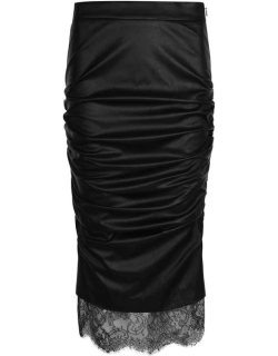 TOM FORD Faux Leather Skirt - Black LB999