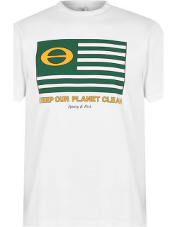 Sporty and Rich Ecology Flag T-Shirt - White
