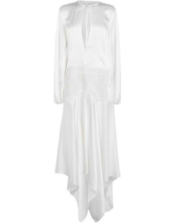 Marques Almeida Long Embroidered Dress - WHITE