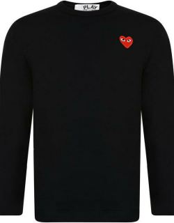 Comme Des Garcons Play Small Heart Long Sleeve t Shirt - Black/Red