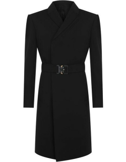 1017 ALYX 9SM Double Brested Trench Coat - Black 0001