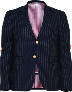 THOM BROWNE Classic Single Breasted Jacket - Navy 415