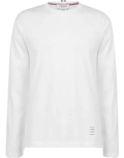 Thom Browne Relaxed Fit Long Sleeve T Shirt - WHITE