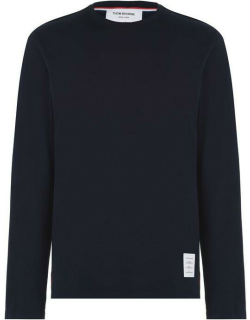 Thom Browne Relaxed Fit Long Sleeve T Shirt - NAVY