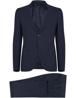 CANALI Broken Checked Suit - Navy 302