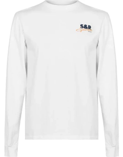 Sporty and Rich Long Sleeve Logo T-Shirt - White