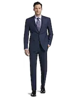 Traveler Collection Slim Fit Mini Check Men's Suit Separate Jacket - Big & Tall CLEARANCE by JoS. A. Bank