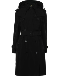 BURBERRY Amberford Hooded Trench Coat - Black