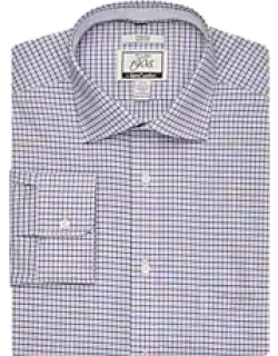 1905 Collection Slim Fit Spread Collar Mini Check Dress Shirt with brrr°® comfort CLEARANCE, by JoS. A. Bank