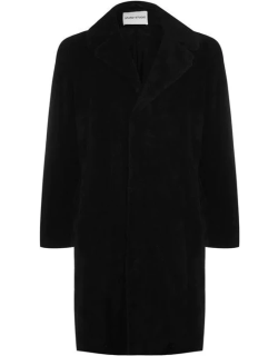 Stand Stand Teddy Knee Lnegth Trench Coat - BLACK
