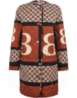 BURBERRY Archive Scarf Print Diamond Quilted Coat - Clay Sienna