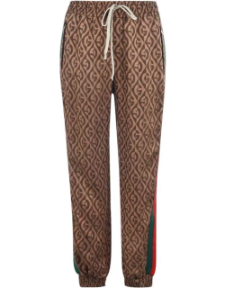 GUCCI Rhombus Tracksuit Bottoms - Brown 2100