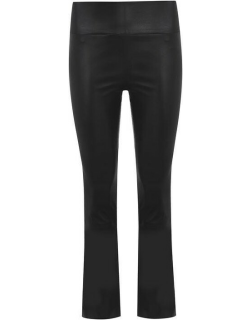 SPRWMN Cropped Flared Trousers - Black