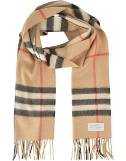 BURBERRY Giant Icon Check Cashmere Scarf - Arc Beige A7026