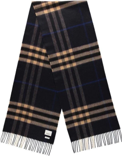 BURBERRY Giant Icon Check Cashmere Scarf - Ind/Camel A7806