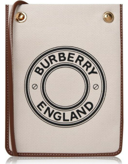 BURBERRY Small Canvas Pouch Bag - Ntrl A1363