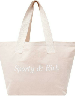 Sporty and Rich Classic Tote Bag - Cream/Gold