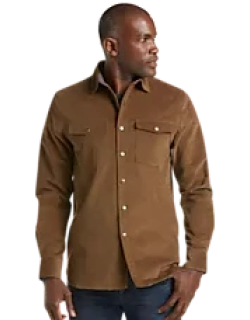 Reserve Collection Tailored Fit Velour Shirt Jacket CLEARANCE
