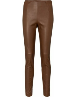 Brown sonni leggings in leather