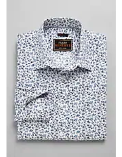 Reserve Collection Slim Fit Spread Collar Floral Men's Sportshirt - Big & Tall