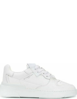 Wing low-top sneakers in white leather