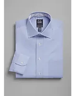 Travel Tech Tailored Fit Spread Collar Dual Check Dress Shirt, by JoS. A. Bank