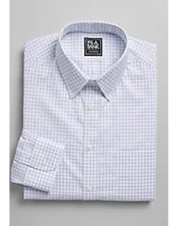 Traveler Collection Slim Fit Point Collar Check Dress Shirt - Big & Tall, by JoS. A. Bank