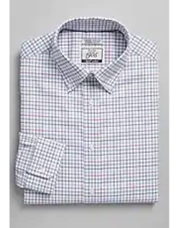 1905 Collection Extreme Slim Fit Button-Down Collar Multi Check Dress Shirt with brrr°® comfort - Big & Tall CLEARANCE, by JoS. A. Bank