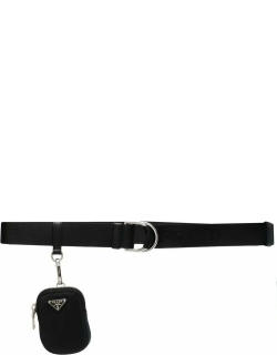Black belt with pouch and logo