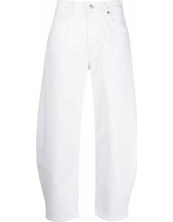 White Calista tapered cropped jeans